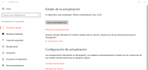 windows update de creators update