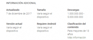 información Google Play Music