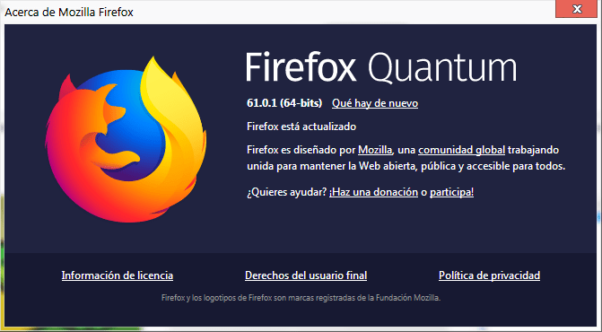 Mozzilla FireFox Version
